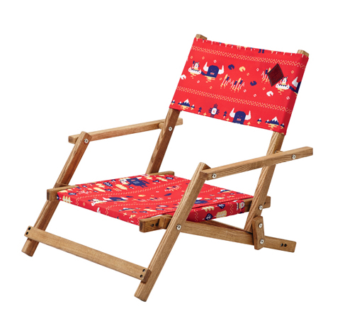 T-METI DECK CHAIR / RED