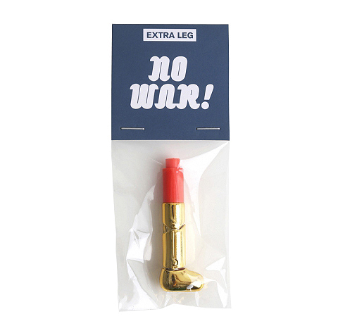 S07 NO WAR BOY Extra Leg - GOLD